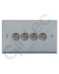 Polished Chrome Dolly Switch 4 Gang 10A