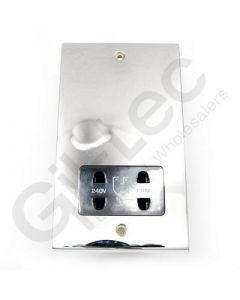 Polished Chrome Shaver Socket