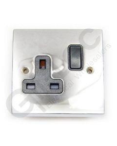 Polished Chrome Switched Socket 1 Gang 13A