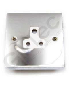 Polished Chrome Unswitched 2A Socket