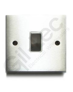 Brushed Chrome Light Switch 1 Gang 10A
