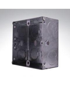 Flush 1 Gang Steel Socket Box 35mm