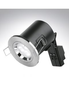 Fixed Fire Rated Downlight Satin Nickel