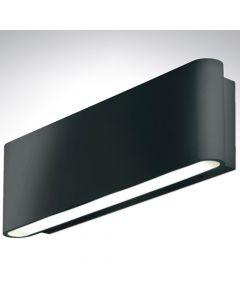 Aluminium 240v Up/Down Wall Light Blk