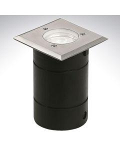 Walkover Light 240v Square Stainles Steel