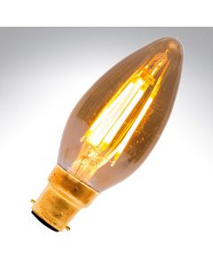 BELL 4W LED Vintage Candle Bulb - BC, Amber, 2000K