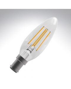 BELL 4W LED Filament Candle Bulb - SBC, Clear, 2700K