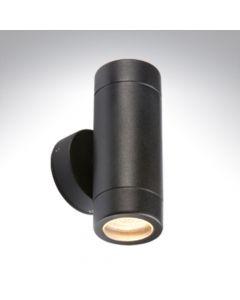 BELL 10339 Luna GU10 Black Aluminium Up/ Down Wall Light