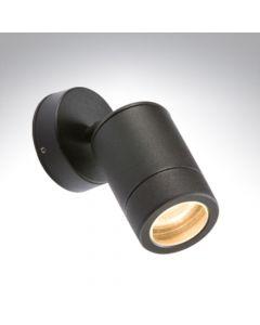 BELL 10341 Luna GU10 Black Aluminium Adjustable Wall Light