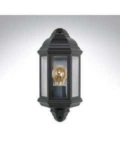 Bell 10361 Retro Half Lantern Polycarbonate with 90° PIR Black