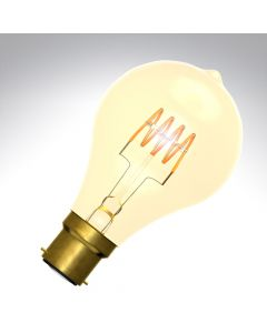 BELL 4W LED Vintage Soft Coil GLS Bulb Dimmable - BC, Amber, 2000K