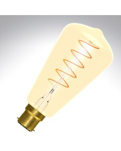BELL 4W LED Vintage Soft Coil Squirrel Cage Dimmable - BC, Amber, 2000K