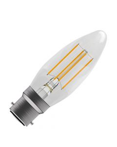 BELL 4W LED Dimmable Filament Candle Bulb - BC, Clear, 2700K