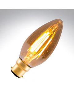 BELL 4W LED Vintage Candle Bulb Dimmable - BC, Amber, 2000K