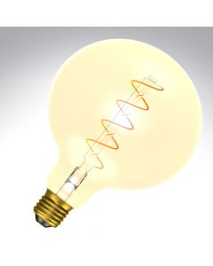 BELL 4W LED Vintage Soft Coil 125mm Globe Dimmable - ES, Amber, 2000K