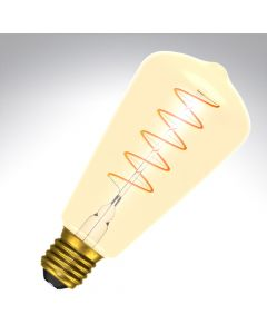 BELL 4W LED Vintage Soft Coil Squirrel Cage Dimmable - ES, Amber, 2000K