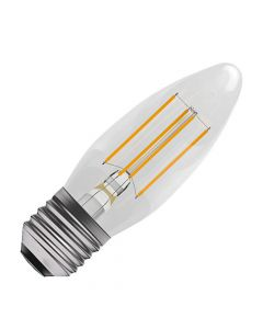 BELL 4W LED Dimmable Filament Candle Bulb - ES, Clear, 2700K