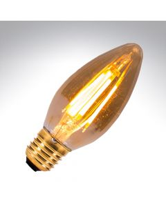 BELL 4W LED Vintage Candle Bulb Dimmable - ES, Amber, 2000K