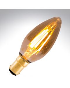 BELL 4W LED Vintage Candle Bulb Dimmable - SBC, Amber, 2000K