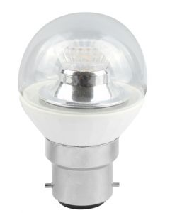 BELL 4W LED 45mm Dimmable Round Bulb Ball Clear - BC, 2700K