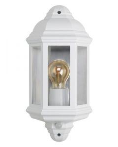 Bell 10365 Retro Half lantern Polycarbonate with 90° PIR White