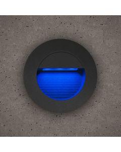 Bell 10406 Luna Grey IP54 1.2w LED Round Guide Light Blue