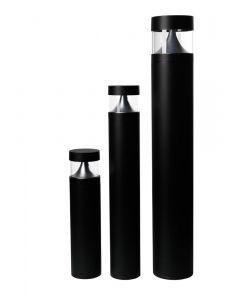 Bell Luna 8W Bollard - Black, 700mm