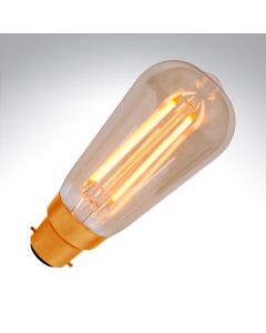 BELL 4W LED Vintage Squirrel Cage - BC, Amber, 2000K