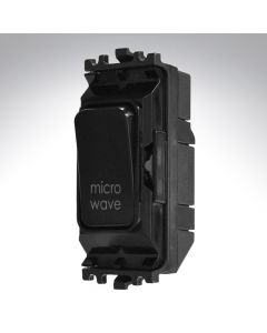 Black Grid Switch 20A Microwave