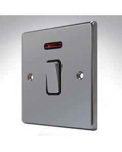 Hartland Black Nickel 20a Double Pole Switch + Neon