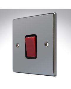 Hartland Black Nickel 45a Double Pole Switch