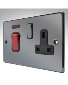 Hartland Black Nickel 45a Switch & Socket