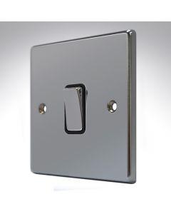 Hartland Black Nickel 1 Gang Intermediate Switch