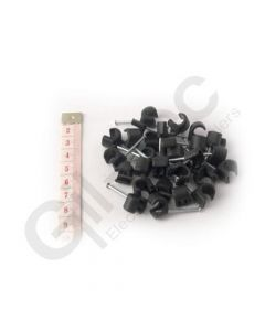 Cable Clip Round 10-14mm Black - Box of 100