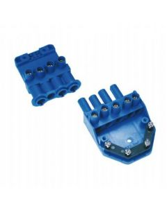 Scolmore Click Flow 20A 4-Pin Plug-In Connector with Loop Terminal CT202C