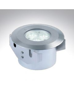 IP67 Mains Voltage Stainless Steel Round LED Ground Light Warm White