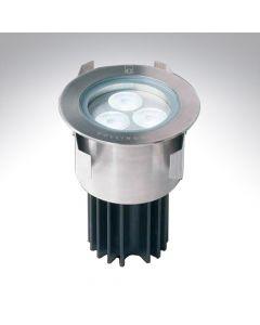 IP68 Stainless Steel Round LED Ground Light Warm White
