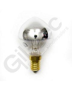 Crown Silver Round Bulb 40W Small Screw Cap