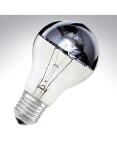 Crown Silver GLS Bulb 60W Screw Cap