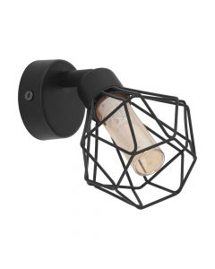 Eglo 32765 Zapata 1 Wall Light Black