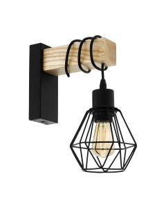 Eglo 43135 Townshend 5 Wall Light Black Brown