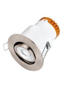 Enlite DE82SN Adjustable LED Downlight Satin Nickel Warm White