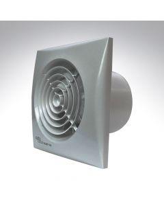 Envirovent Silver Silent 4 Inch Axial Bathroom Timer Fan