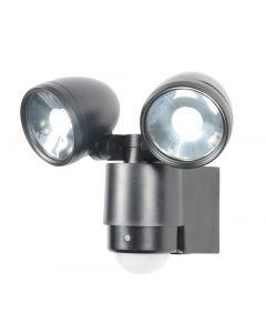 Forum Zinc Sirocco 2 Light LED PIR Spot Black