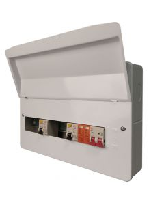 Fusebox F2006DX 6 Way Dual 80A 30mA RCD Consumer Unit + Surge Protection