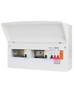 Fusebox F2010DX 10 Way Dual 80A 30mA RCD Consumer Unit + Surge Protection