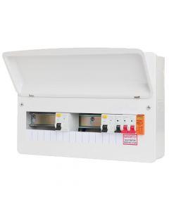 Fusebox F2016DX Way Dual 80A 30mA RCD Consumer Unit + Surge Protection