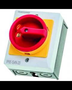 Timeguard 4 Pole Rotary Isolation Switch IP65 20Amp