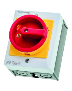 Timeguard 4 Pole Rotary Isolation Switch IP65 40Amp