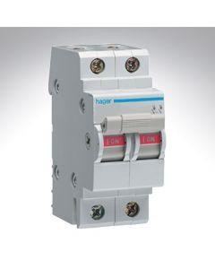 Hager Double Pole Isolator 40A 250V
